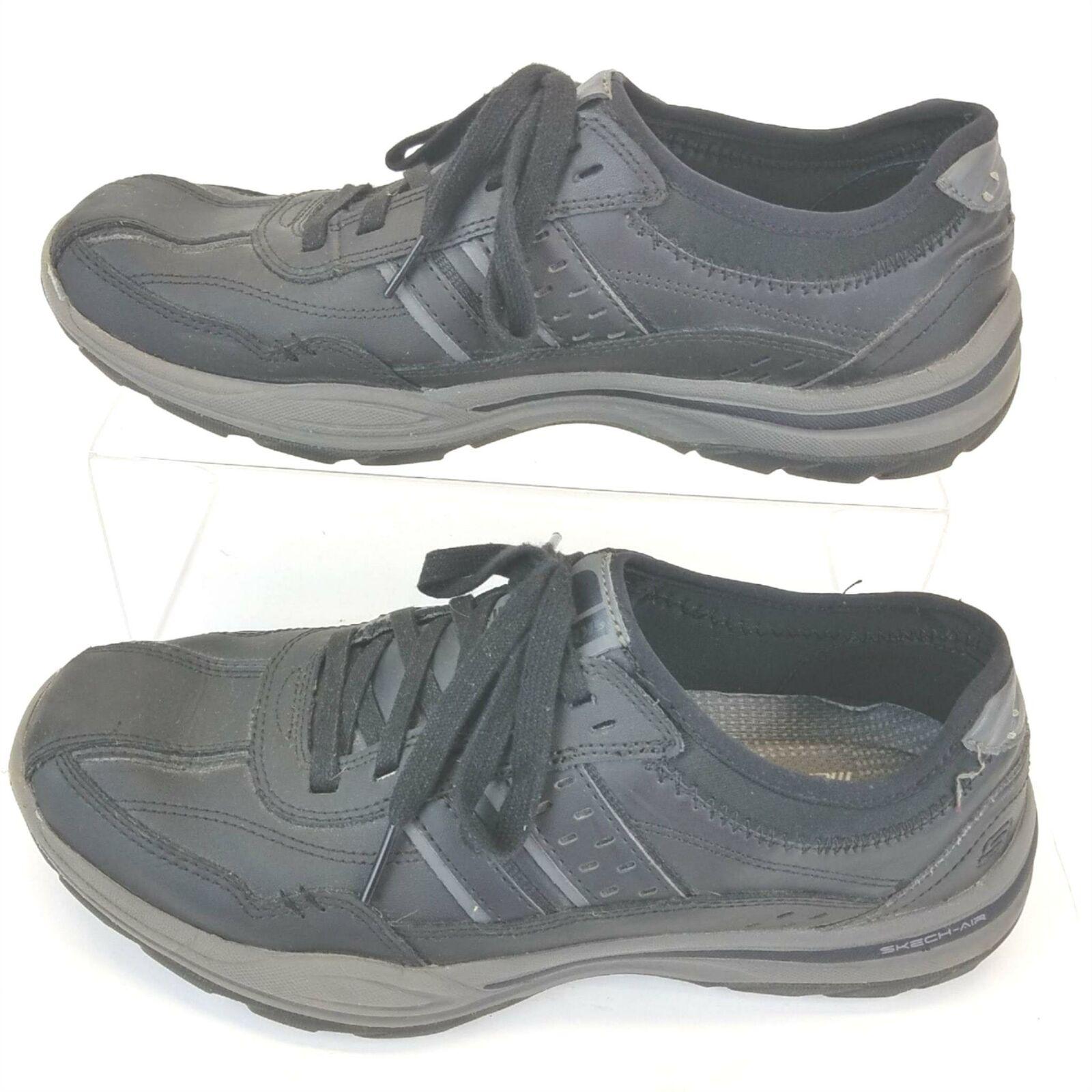 Skechers Althletic 65055 Confort Mémoire Chaussures Cravate Dentelle Chaussures Noir Homme 9.