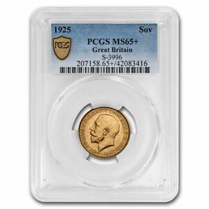 1925 Great Britain Gold Sovereign George V MS-65+ PCGS - SKU#233522
