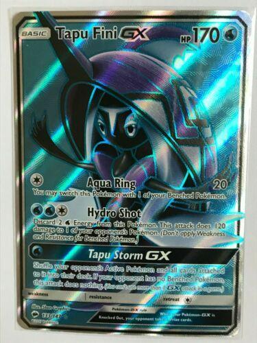 Tapu Fini GX FULL ART ULTRA RARE 133//147 SM Burning Shadows Pokemon Card HOLO NM