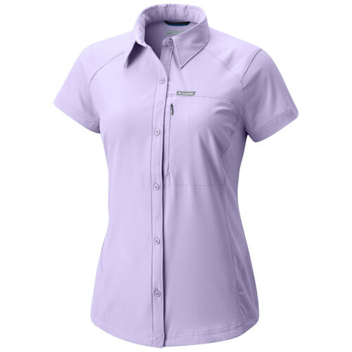 "New Womens Columbia /""Silver Ridge/"" Zip Omni-Shade Wick Vented SS Fishing Shirt"