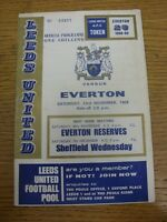23/11/1968 Leeds United v Everton  (creased, slight marked). Thanks for viewing