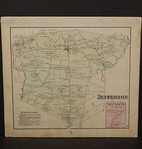 Ohio Brown County Map Jefferson Township 1876 Dbl Side W9 55 Ebay