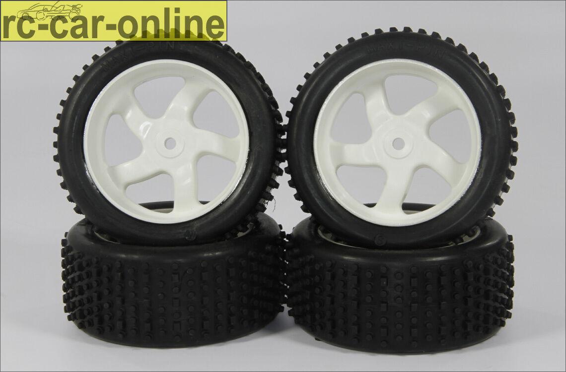 Maxi-pin 1:6 terrain-concurrence pneus, 1 paire s s s et 1 paire M-y1382-tire 5db5e8