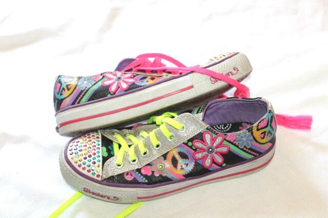 Girls Skechers Twinkle Toes Trainers Light up shoes Size UK 11 EU 28   eBay