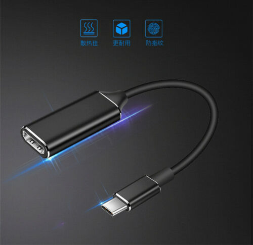 USB 3.1 Type C to HDMI TV HDTV Adapter Cable For Samsung Galaxy TabPro S S8 S9+