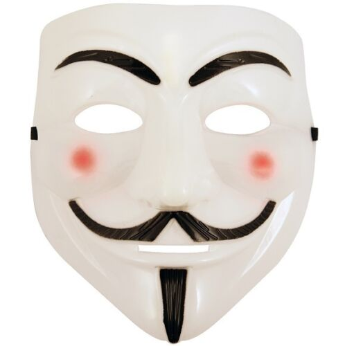Anonymous V For Vendetta Fancy Dress Face Mask Guy Fawkes Hacker Mask New