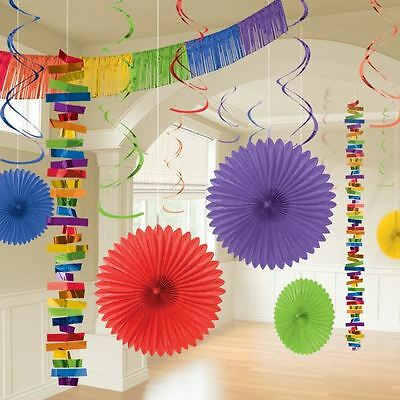 18pk Rainbow Room Decoration Kit Birthday Wedding Party