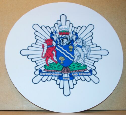 Incendie et service de sauvetage Oxfordshire vinyle autocollant.