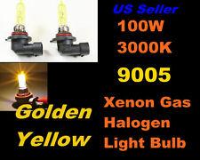Golden Yellow Xenon 100w Jaguar 00-08 S-Type/97-04 XK8 High Beam 9005/HB3