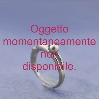 CAT RING RESIZABLE ANELLO GATTINO REGOLABILE ARGENTATO
