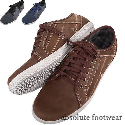 Mens / Gents Genuine Leather Summer / Holiday Casual Lace Up Shoes / Trainers QualitäTswaren