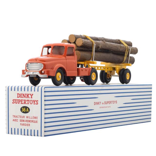 Dinky Toys Supertoys 36A Tracteur Willeme Avec Remorque Fardier Semi Atlas GIFT
