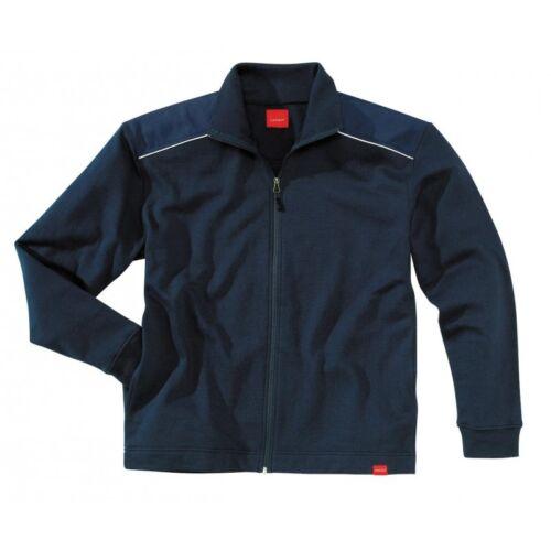 Uomo Qualità Blu Navy Lavoro Con Zip Felpa Giacca Ripstop Riflettente S-XXL