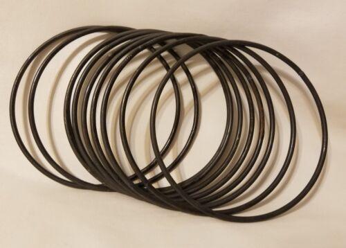 Lot of 10 Steel Metal Macrame Craft Dreamcatcher Round Rings Hoops 5 Inch