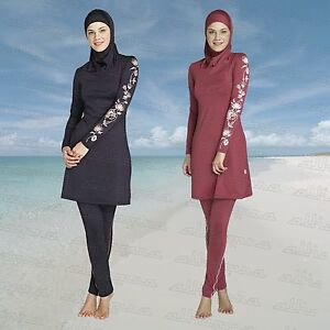 NEW-AlHamra-Lale-Full-Cover-Modest-Burkini-Swimwear-Swimsuit-Muslim-Islamic