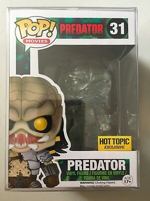 Clear Predator w// Green Blood Vinyl Figure HOT TOPIC EXCLUSIVE Funko Pop