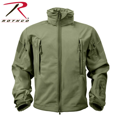 ROTHCO US Special SPEC OPS Army TACTICAL Fleece SOFTSHELL JACKE Schwarz