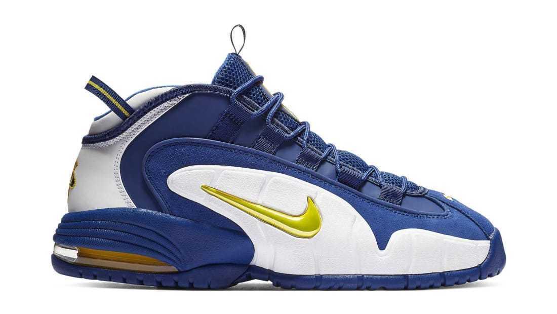 Men's Nike Air Max Penny  Warriors  Athletic Fashion Casual 685153 401 Royal blue