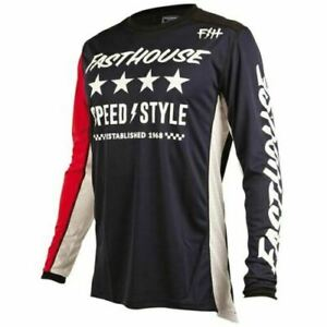 Fasthouse Staple L1 Youth Motocross Jersey Orange//Navy Blue All Sizes
