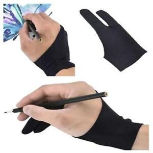 1pc Two Finger Anti-fouling Glove For Artist Drawing /& Pen Graphic Tablet YJ