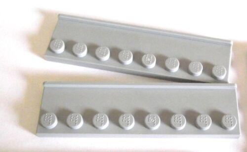X 2 PIECES Partie 30586 Choisir Couleur Lego 2x8 modifié Plaque Porte Rail