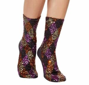 Officially Licensed Dc Comics Birds Of Prey Harley Quinn Diamond Sequin Socks Ebay
