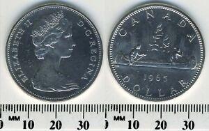 Canada-1965-1-Dollar-Silver-Coin-Queen-Elizabeth-II-Voyageur-3