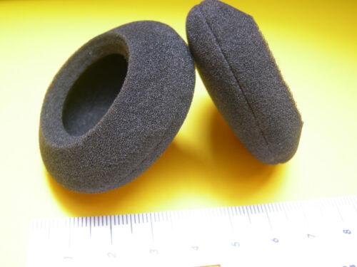 2 Ohrpolster aus Schaumstoff für Plantronics Audio 330 PC Headset  Ø 50 mm
