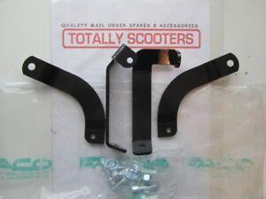 VESPA-NOS-FACO-BLACK-MIRROR-or-SCREEN-BRACKET-KIT-4-BRACKETS-FIXINGS