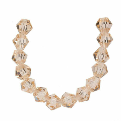 50pcs 6mm Charms Bicone Faceted Crystal Glass Loose Spacer Beads Jewelry Bead