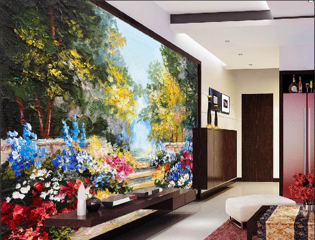 3D Garden Painting 97 Wall Paper Murals Wall Print Wall Wallpaper Mural AU Lemon