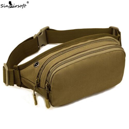 Men Waterproof Waist Bags Tactical Sling Chest Fanny Pack Running Belt Zip Pouch