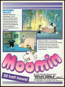MOOMIN-VALLEY-Original-1990-Trade-AD-TV-promo-poster-LARS-TOVE-JANSSON