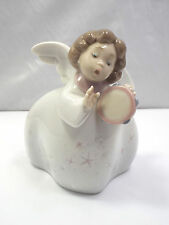 Lladro Figurine #6528 Little Angel with Tambourine, with box