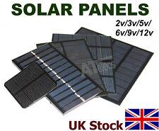 Solar Cell Solar Panel Many Types 2v 3v 5v 6v 9v 12v Battery Charger DIY - UK