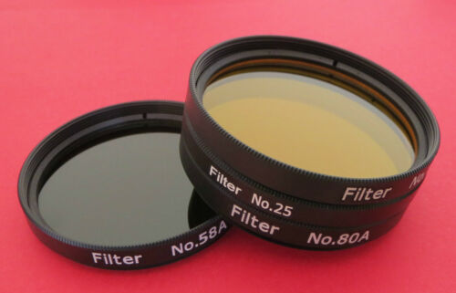 "Set of 4 Superior Quality Yellow Red Blue Green 2/""  Filter for Telescopes BNC"