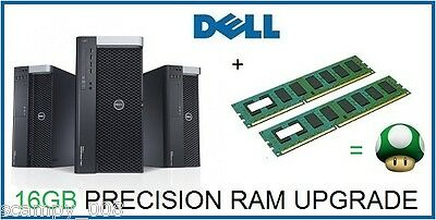 16GB 2x8GB Memory RAM FOR Dell Precision Workstation T3600 ECC Register B21