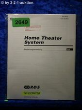 Sony Bedienungsanleitung HT DDW750 Home Theater System (#2649)