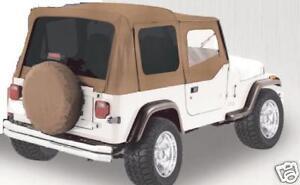 new-1988-95-soft-top-Jeep-Wrangler-FOR-HALF-DOORS-SPICE