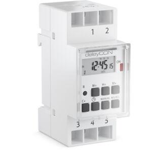 deleyCON-Digitale-Zeitschaltuhr-Schaltuhr-Timer-Einbau-Hutschiene-Schalttafel