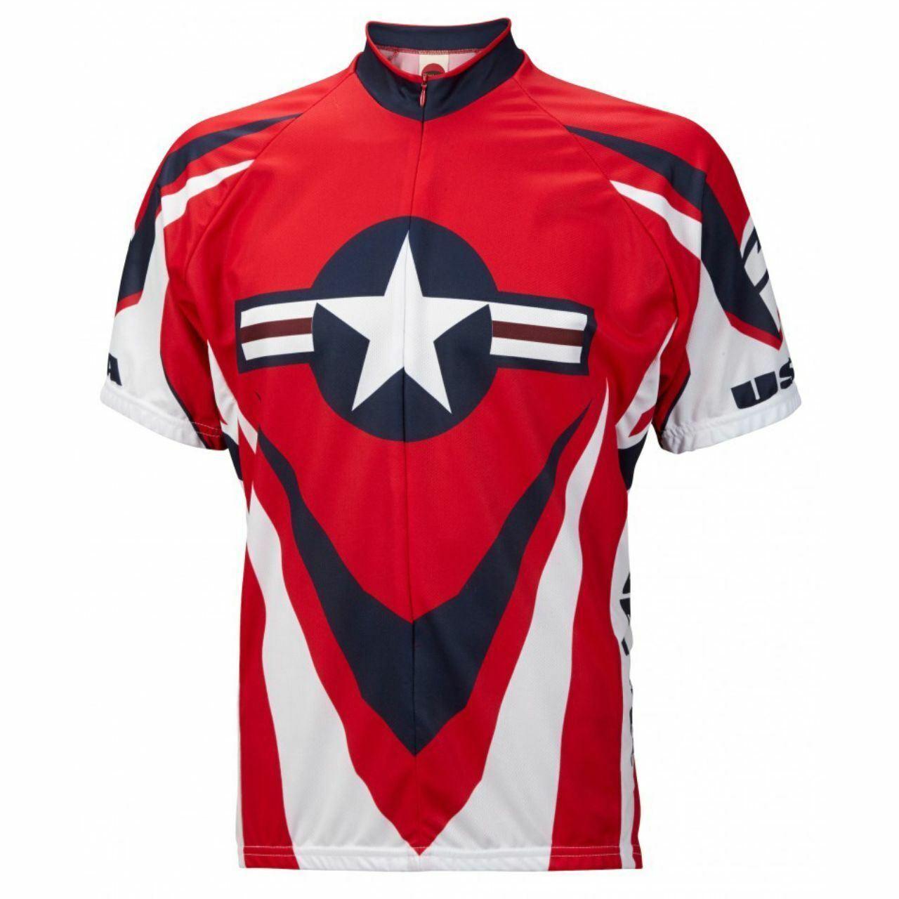 Paseo de EE. UU. Gratis Para Hombre Manga Corta Media Cremallera Ciclismo Camiseta
