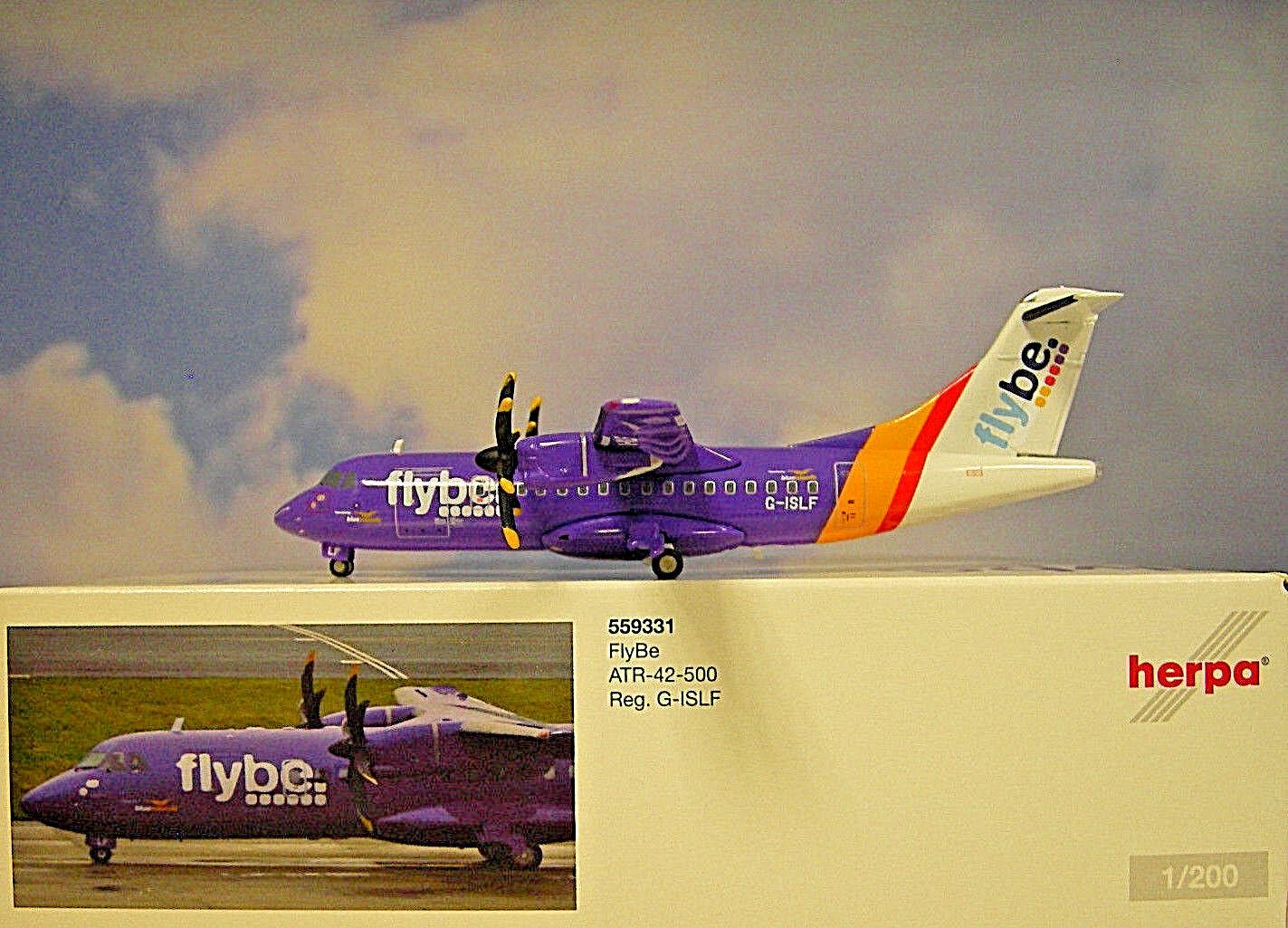 Herpa Wings 1 200 ATR - 42 - 500 Flybe G-islf 556651