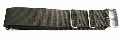20MM HIGH GRADE CAMO GREEN NYLON MILITARY STYLE STRAP & STEEL BUCKLE BY GLYCINE