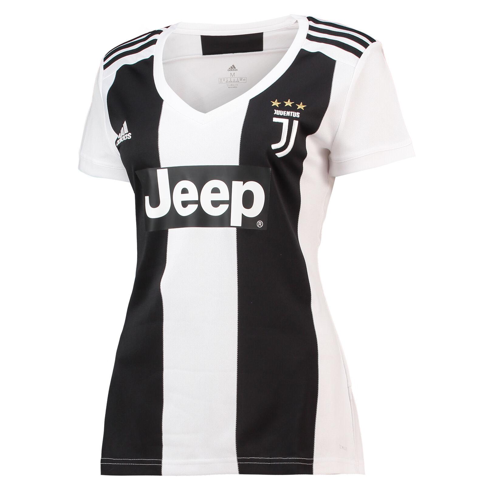 Offiziell Juventus Fußball Heim Shirt Kurzarm Trikot Top 2018 19 Damen adidas  | Tadellos