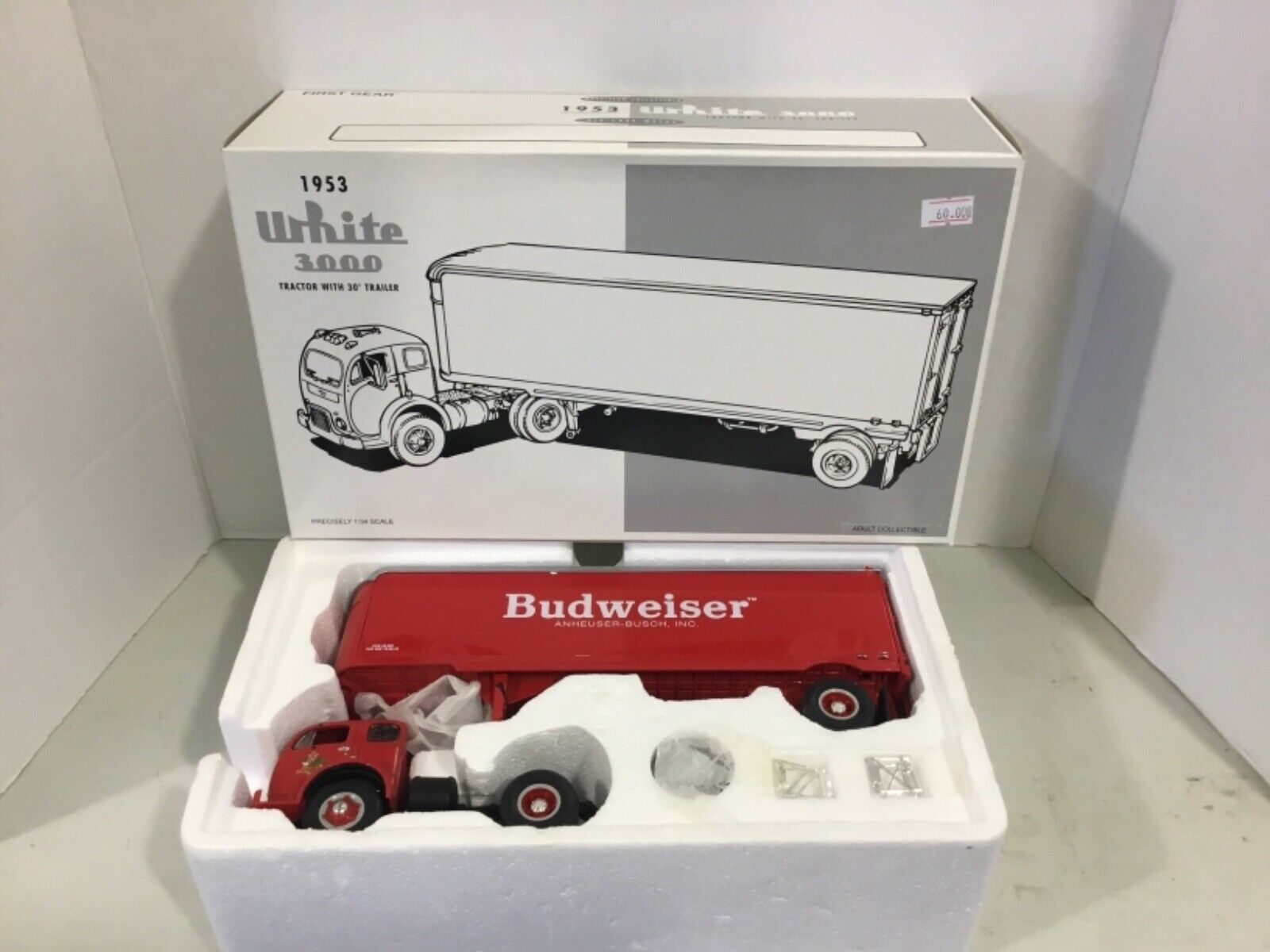 First Gear 1953 biancao 3000 Budweiser camión envío Gratis
