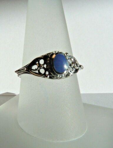 68 Lazuli Silberring 925 Silber mit Lapis 48 bis Gr filigran Gr