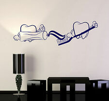 Vinyl Wall Decal Teeth Toothpaste Dentist Dentistry Bathroom Stickers (ig4747)