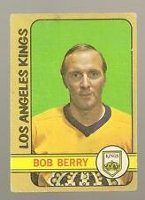 1972 - 73 Topps Hockey Set BOB BERRY Card