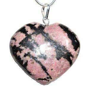 CHARGED-Himalayan-Rhodonite-Crystal-Heart-Pendant-20-034-Chain-Selenite