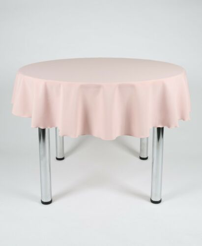 Small Round Fabric TABLECLOTH COVER Over locked using top Quality cotton thread